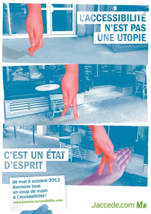 Le Visuel de la Campagne de sensibilisation Jaccede 2013 créé par les étudiants de l'école Estienne